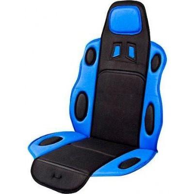 Накидка на сидение для легкового автомобиля Vitol F 19002 (FD 102075) синяя с черным