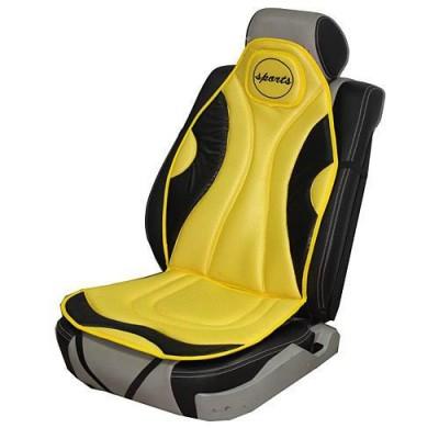 Накидка на сидение для легкового автомобиля Vitol P0213134-5 (желтая с черным)