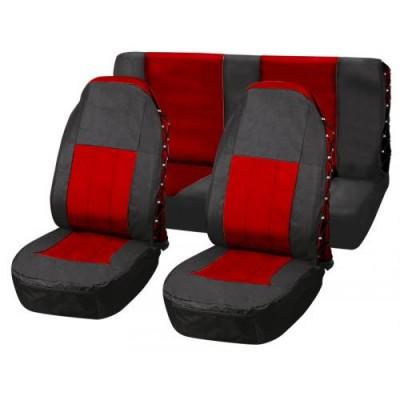 Комплект универсальных чехлов Vitol FD-101113 (красный с чёрным)