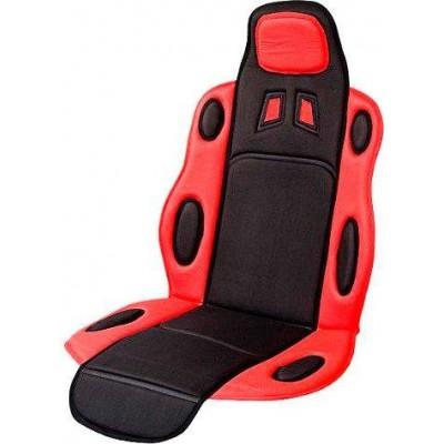 Накидка на сидение для легкового автомобиля Vitol F 19002 (FD 102075) красная с черным