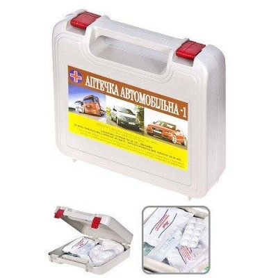 Аптечка автомобильная Vitol АМА-1 пластик (твердая упаковка) пластик