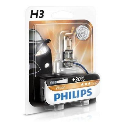 Лампа галогеновая Philips Vision 12336 H3 12V 55W PK22s (695611)