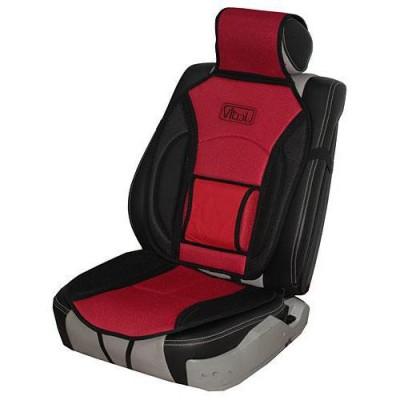 Накидка на сидение для легкового автомобиля Vitol MF 1007/CN (12527 07) черная с красным