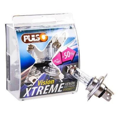 Лампа галогеновая PULSO H4/P43T (12v60/55w+50%) X-treme Vision