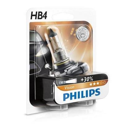 Лампа галогеновая Philips Vision 9006-B HB4 12В 55W P22D (247261)