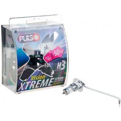 Лампа галогеновая PULSO H3/PK22S (12v55w+50%) X-treme Vision